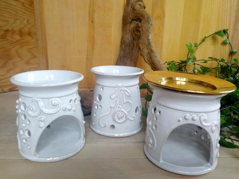 Keramikstövchen, viele Details
